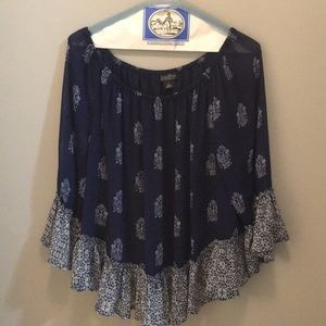 Lucky brand off the shoulder blouse